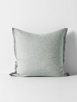 Herringbone European Pillowcase - Limestone