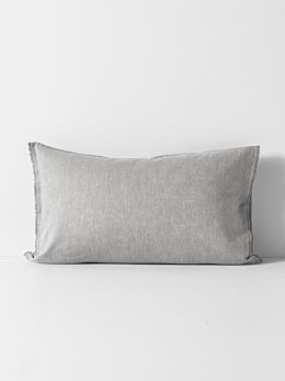 Herringbone Standard Pillowcase - Dove