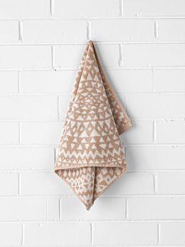 Inca Hand Towel - Pink Clay