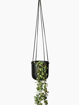 Black Hanging Planter Medium by Lightly