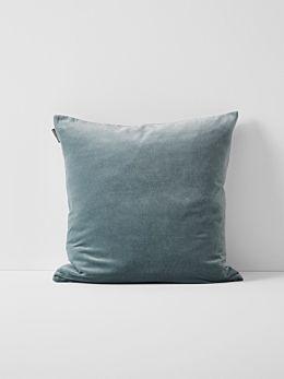 Luxury Velvet Cushion - Eucalypt