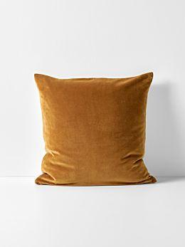Luxury Velvet Cushion - Ginger