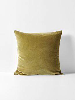 Luxury Velvet Cushion - Olive