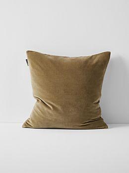 Luxury Velvet Cushion - Tan