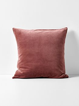 Luxury Velvet European Pillowcase - Mahogany