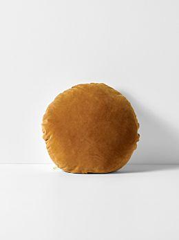 Luxury Velvet 45cm Round Cushion - Ginger