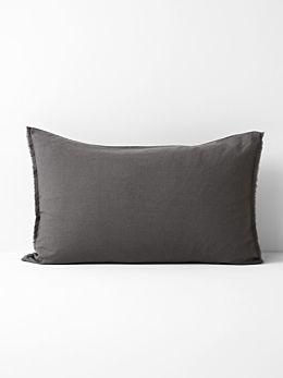 Maison Fringe Standard Pillowcase - Flint