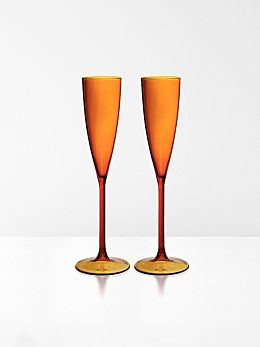 Champagne Flutes set of 2 by Maison Balzac - Amber