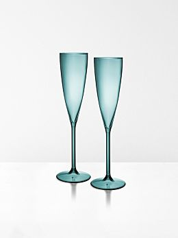 Champagne Flutes set of 2 by Maison Balzac - Teal