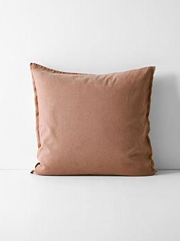 Maison Fringe European Pillowcase - Clay