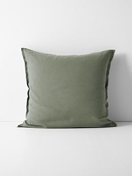 Maison Fringe European Pillowcase - Khaki