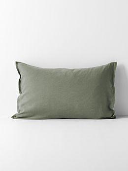 Maison Fringe Standard Pillowcase - Khaki