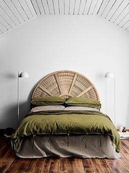 Maison Vintage Quilt Cover - Olive