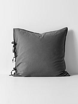 Maison Vintage European Pillowcase - Charcoal