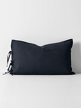 Maison Vintage Standard Pillowcase - Ink