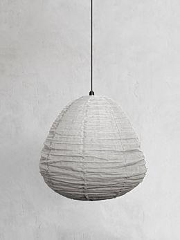 Fringed Linen Light Shade - Mink