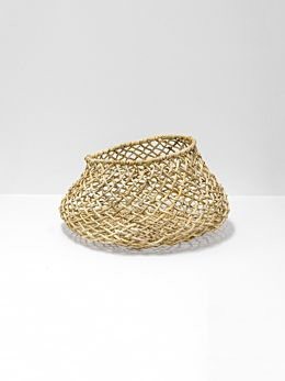 Cicely Wide Woven Basket Small