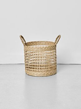 Lally Woven Basket with Loop Handle Medium