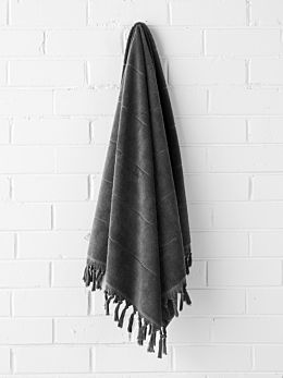 Paros Bath Sheet - Charcoal