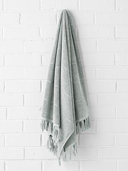 Paros Bath Sheet - Limestone