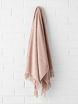Paros Bath Sheet - Pink Clay