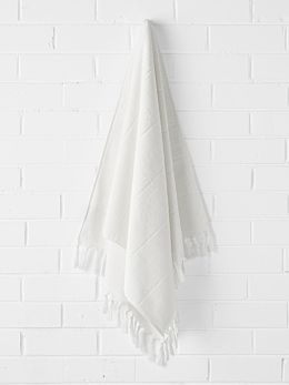 Paros Bath Sheet - White Wash