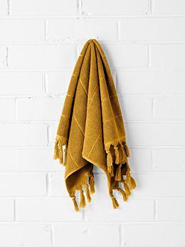 Paros Hand Towel - Mustard