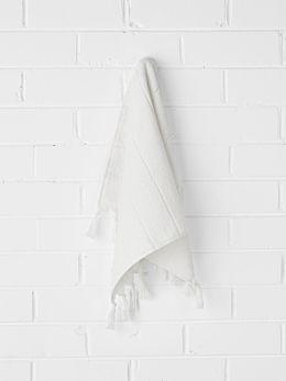 Paros Hand Towel - White Wash