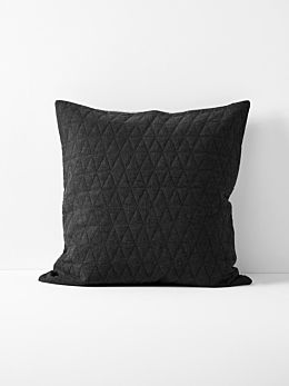 Chambray Quilted European Pillowcase - Khol