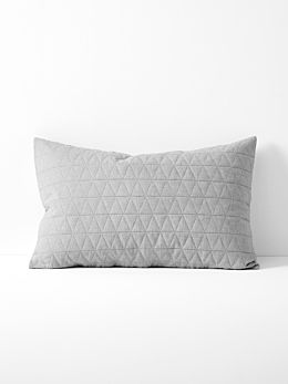 Chambray Quilted Standard Pillowcase - Dove