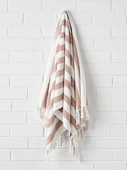 Stripe Bath Sheet - Blush