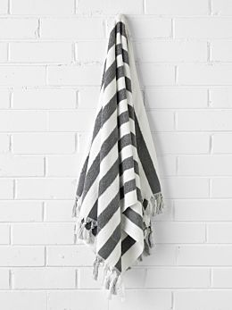 Stripe Bath Sheet - Smoke