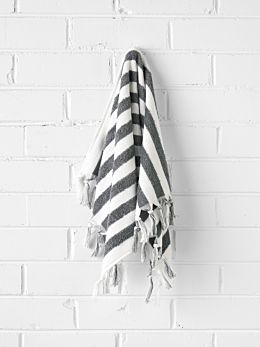 Stripe Hand Towel - Smoke