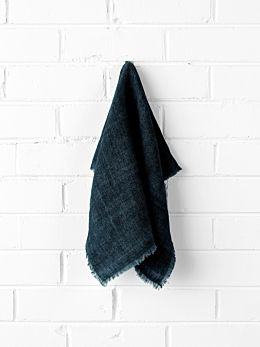 Vintage Linen Napkins set of 4 - Slate