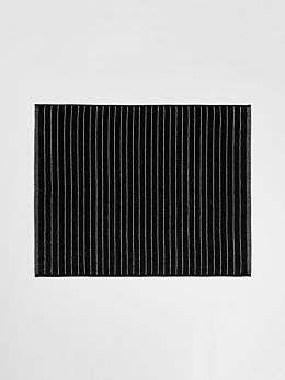 Vintage Stripe Bath Mat - Black