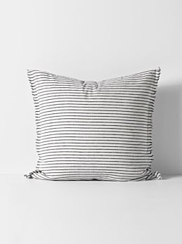 Vintage Stripe European Pillowcase - Ink