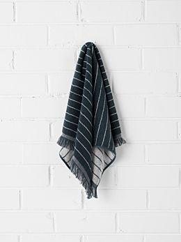 Vintage Stripe Hand Towel - Slate
