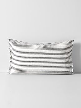 Vintage Stripe Standard Pillowcase - Ink