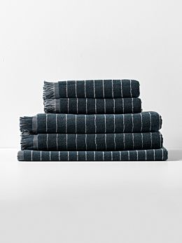 Vintage Stripe Towel Set - Slate