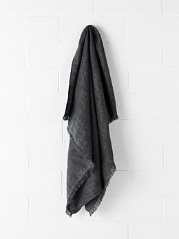 Vintage Linen Throw - Flint