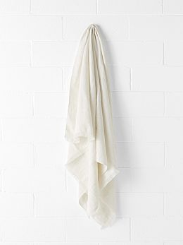 Vintage Linen Throw - Marshmallow