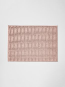 Waffle Bath Mat - Pink Clay