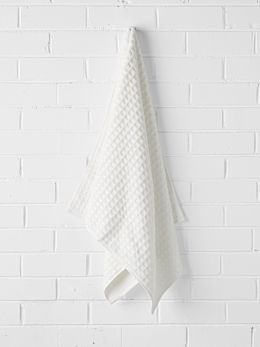 Waffle Bath Sheet - White