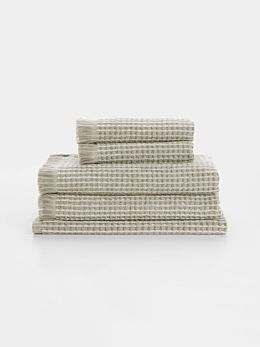 Waffle Bath Towel Set