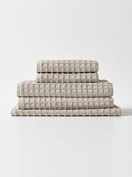 Waffle Bath Towel Set - Natural