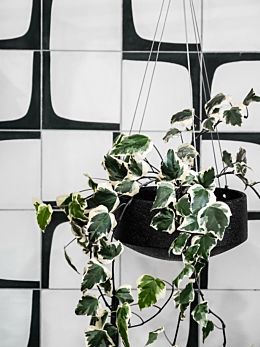 Charred Embers Hanging Planter Small by Zakkia