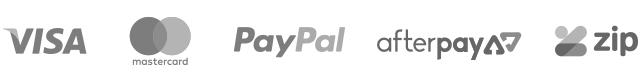Visa Mastercard Paypal Afterpay ZipMoney