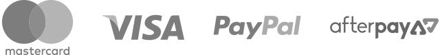 Mastercard Visa American Express Paypal Afterpay